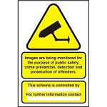 A3 CCTV Data Protection Sign