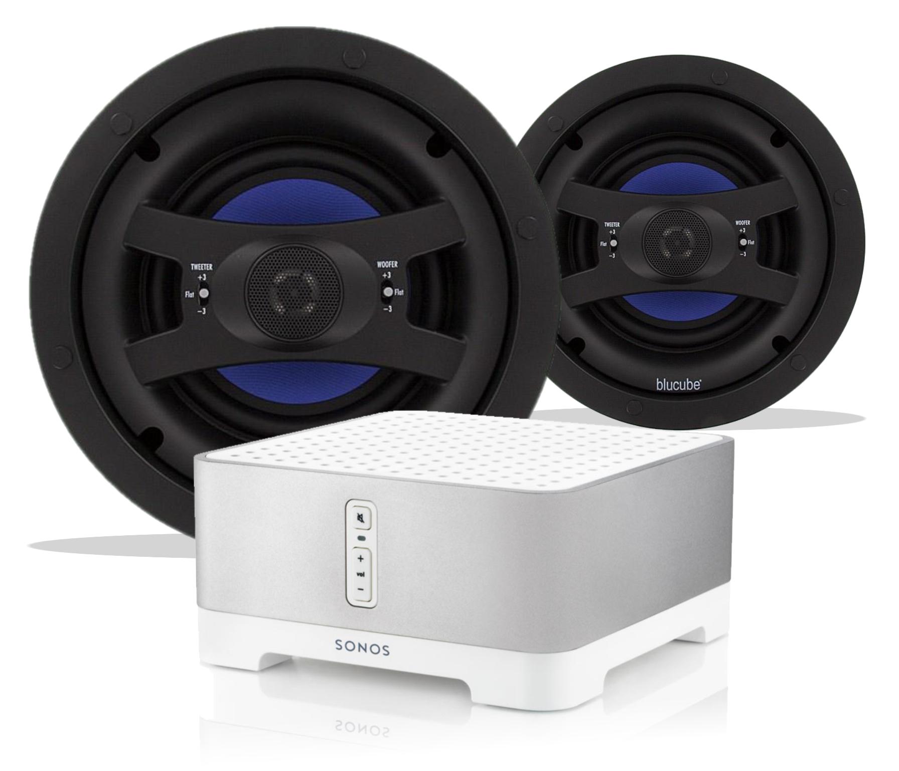 Sonos Connect Amp Blucube Cxcl 800 Ceiling Speaker Bundle