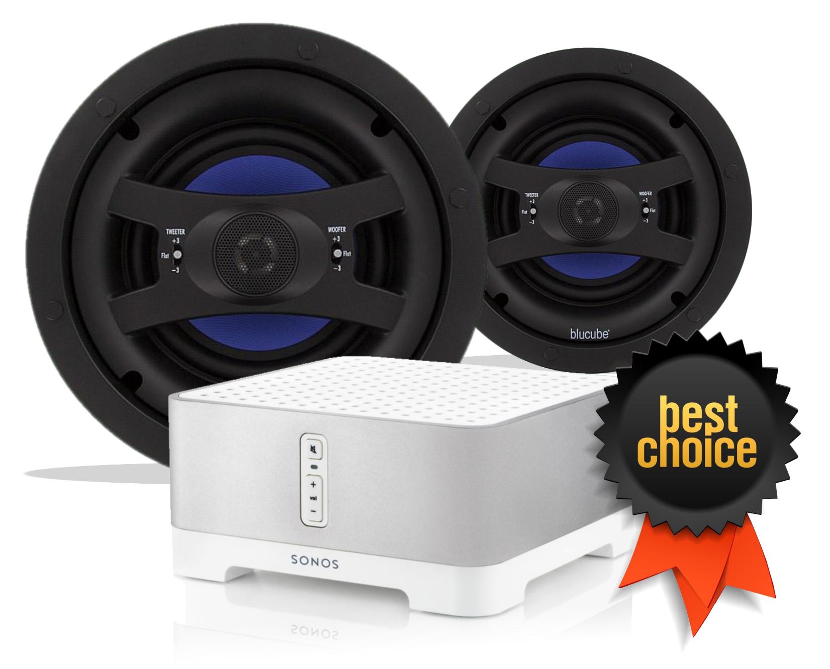 sonos connect amp blucube cxcl 800 ceiling speaker bundle. Black Bedroom Furniture Sets. Home Design Ideas