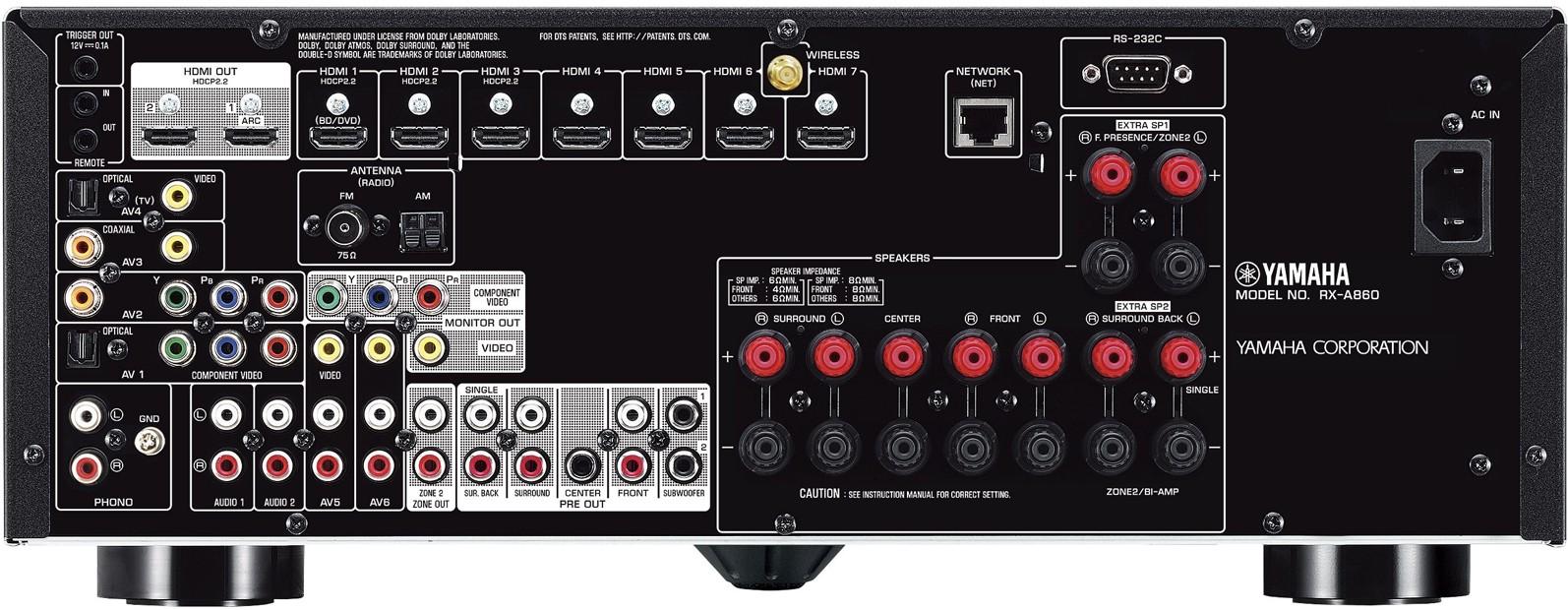 yamaha rx a860 7 2 channel aventage atmos av receiver