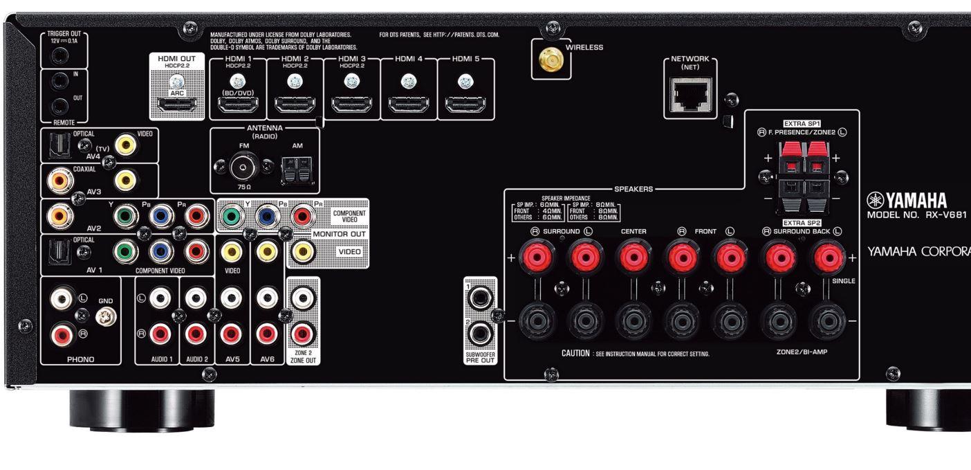 Yamaha rx v681 av receiver create automation for Yamaha tv receiver