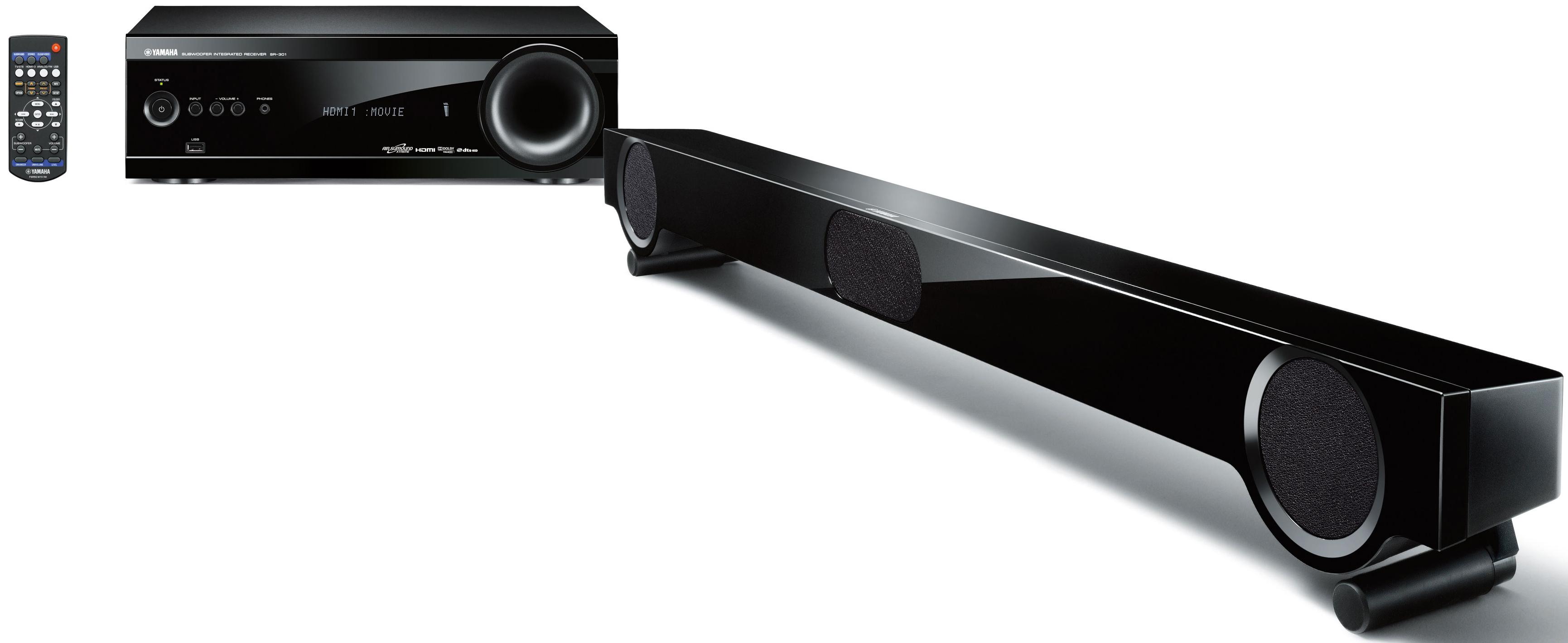 yamaha yht s401 digital sound bar and subwoofer package. Black Bedroom Furniture Sets. Home Design Ideas