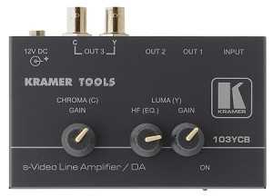 Kramer 103YCB 1:3 S-Video Distribution and Line Amplifier