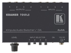 Kramer 4x4A 4x4 Audio Switcher + 1:4 Distribution Amplifier