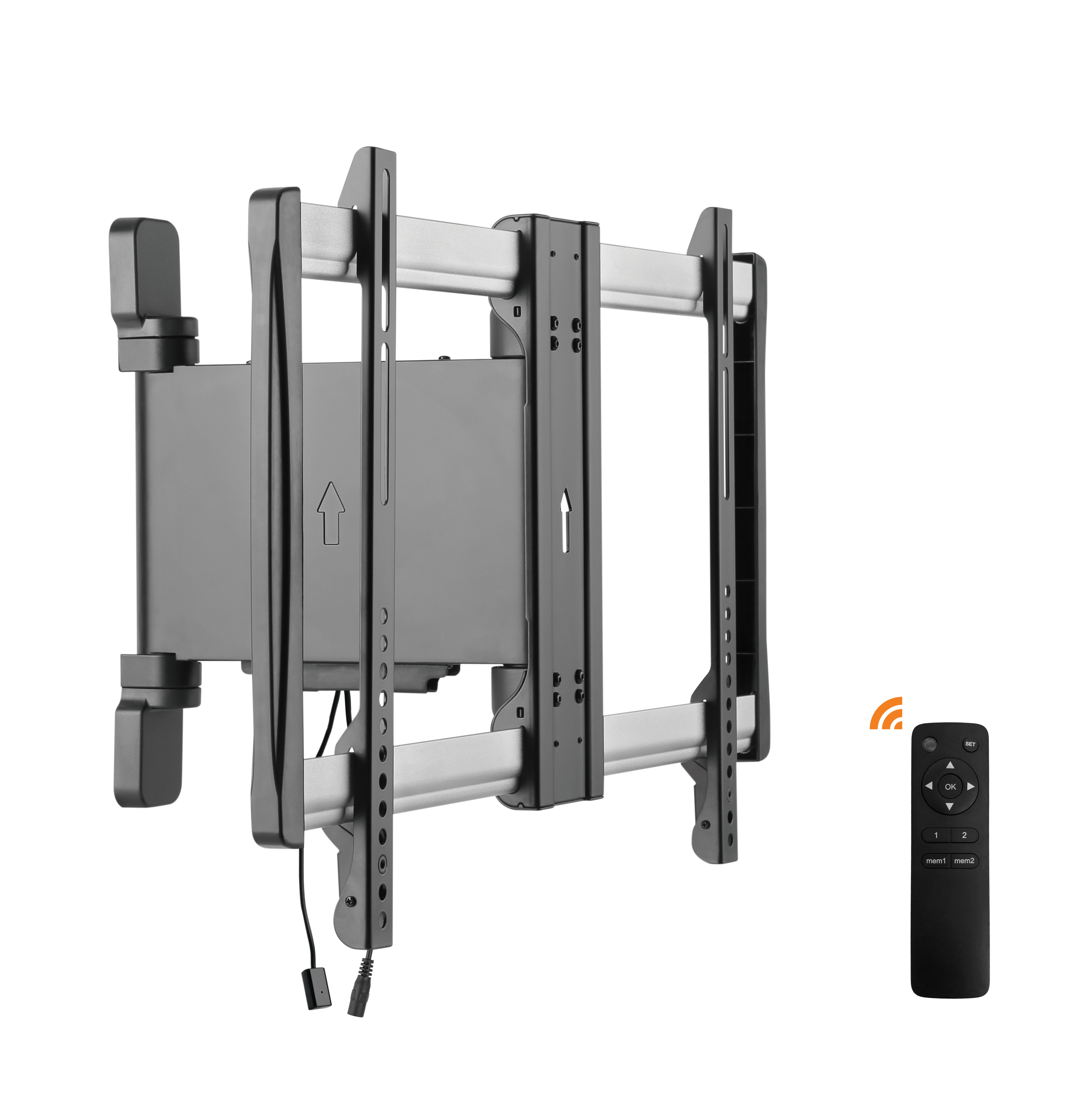Lithe Audio Remote & Motorized Curved or Flat Panel TV Wall Mount