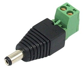 CCTV 2.1mm DC Male Power Plug
