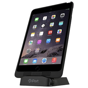 "iPort Charge Case and Stand for 9.7"" iPad (inc Air & Gen 5 & 6 ) - Black"