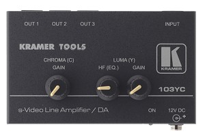 Kramer 103YC 1:3 S-Video Distribution and Line Amplifier